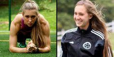 En el mundo de fútbol, Nicole Regnier admira a Andrés Iniesta y a Lionel Messi.