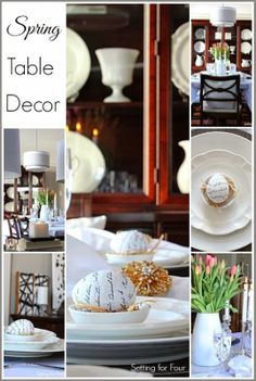 Spring Table Decor Ideas Dining Room #tablescape.JPG