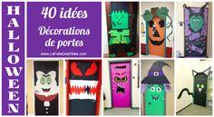 ∗ Halloween : 40 idées de décorations de portes (enfants) à réaliser ! ∗