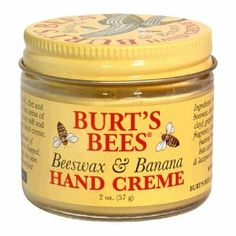 Burt's Bees Beeswax & Banana Hand Creme, 2 oz by Burt's Bees. $8.95. No Animal Testing. 100% NaturalHands, often exposed to heat, cold, dirt and harsh detergents, are one of the first areas of the body to show aging. Keep yours soft and smooth with our super emollient hand creme.burtsbees.com
