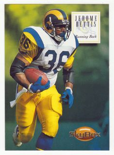In Mint Condition Pro Football Teams, Football Cards, Jerome Bettis, La Rams, Football Conference, Sport Icon, Running Back, National Football League, Pittsburgh Steelers