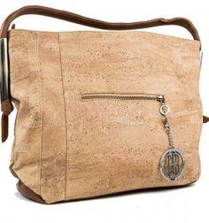 Large Cork Handbag with Metal Designed Accents $159.00