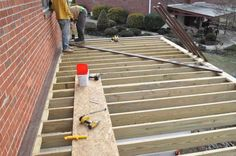 Picture frame decking, diagonal decking, and joist blocks for support
