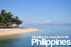 PARADISE. More FUN in the Philippines! Places Around The World, Around The Worlds, Philippines Tourism, Visayas, Mindanao, Cebu, More Fun, Places To Go, Beautiful Places