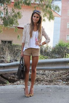 Lace jacket and neutrals- love!