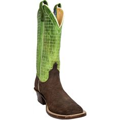 """Men's Chocolate Hippo Anderson Bean Men's Boots are 13"""" with pigskin top, leather sole and a nice square toe for comfort."""