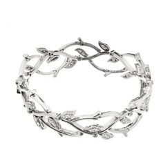 Pre-owned Tiffany & Co. 950 Platinum Diamond Garland Bracelet (3.280.370 HUF) ❤ liked on Polyvore featuring jewelry, bracelets, diamond bangles, platinum jewellery, diamond jewellery, pre owned jewelry and chains jewelry