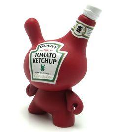 Un nouveau packaging totalement fun pour le Ketchup Toy Art, Vinyl Toys, Vinyl Art, Art Jouet, Danbo, Small Sculptures, Funky Art, Rabbit Toys, Kawaii Shop
