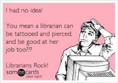 Thought this was funny - a bunch of my kids in the library recently noticed that I had a tattoo. They were rather amazed.