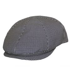 761a2ae143f DelMonico Black Check Cotton Pub Cap by Doria