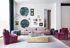 Fabolous Velvet Sofa Design Ideas for Living Rooms Sofa Design, Furniture Design, Living Room Interior, Living Room Decor, Living Spaces, Living Rooms, Rosa Sofa, Pink Sofa, Deco Design