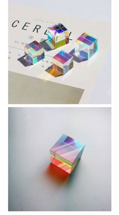 Clear Optical Glass Cube from Apollo Box Cube Design, Art Design, Glass Cube, Glass Art, Glass Packaging, Apollo Box, New Gadgets, Resin Crafts, Motion Design