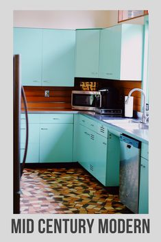 Check out our Mid Century Modern kitchen tour! Original St. Charles custom cabinets #vintage #retro #mcm #midcenturymodern #midcentury #retrokitchen #metalcabinets