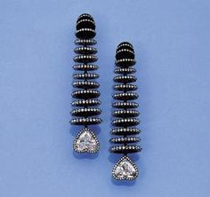 JAR Paris Dimond and Black Rhodium Earrings
