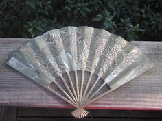 Solid Brass Fan Vintage Wall Hanging: by HobbitHouse on Etsy