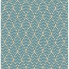 Graham & Brown Kabuki ft Blue Vinyl Textured Geometric Unpasted Paste the Wall Wallpaper at Lowe's. An art deco design with a metallic outline is the perfect way to add subtle pattern and color to any room.