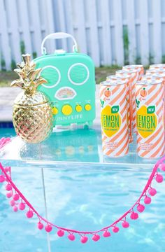 Bright & Colorful Labor Day Pool Party- Giggles Galore