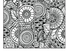 Pattern Coloring Page Bookmarks this is a printable PDF coloring