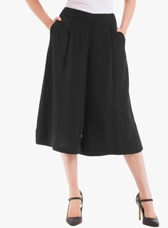 Buy Prym Black Solid Culotte Pant for Women Online India, Best Prices, Reviews | PR677WA10VDDINDFAS