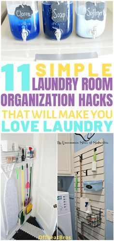 These 10 laundry room ideas are THE BEST! I'm so glad I found these AMAZING tips! Now I have great ways to keep my laundry room organized and redefined! These are going to make doing laundry so much easier. Pin this for later! Small Space Organization, Laundry Room Organization, Home Organization Hacks, Organizing Your Home, Organizing Ideas, Organising, Doing Laundry, Laundry Tips, Small Laundry
