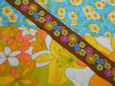 Mod Fabric and Trim Vintage Lot
