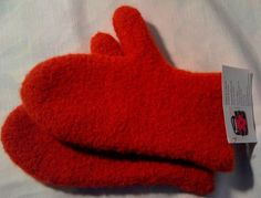 Paprika Hand Knited and Felted Mittens from by DesignsbyFredericka, $35.00