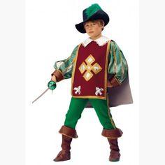 Disfraz Mosquetero Aramis. Disfraces para Niños. Disfraces de Calidad. Fabricación Nacional. www.disfracesgamar.com