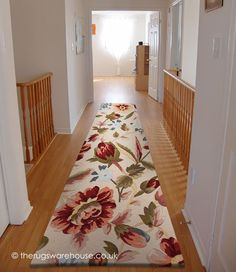 Crochet Purple Runner A 100 Wool Hallway Rug With Beige Pattern Over Background Http Www Therugswarehouse Co Uk Hall Runners
