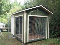 Perrera k9 de 8 x 12 con casa de perro 4 x por backyardbuildingsllc