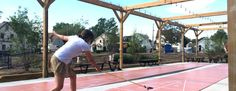Hydraulic Hearth cues up Shuffleboard Courts Designed by Studio Prospect