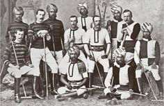 Indian princes and British Army officers in the Hyderabad contingent polo team. (Photo by Hulton Archive/Getty Images). Colonial India, British Colonial, Indiana, Indian Prince, Little Britain, Polo Team, History Of India, Vintage India, Tumblr