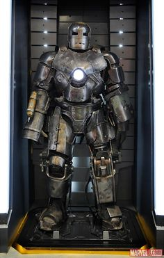 The Mark I armor was on display at San Diego Comic-Con 2012 at the Marvel Booth.