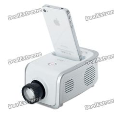 Portable 40LM LED Projector for iPhone / iPod - White $152