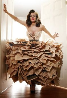 Newspaper dress...amazing...gorgeous.