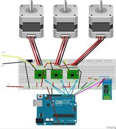 Cnc Router Plans, Cnc Plans, Cnc Lathe, Cnc Projects, Arduino Projects, Diy Electronics, Electronics Projects, Arduino Motor Control, Arduino Cnc