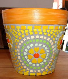 Yellow Flower Pot by Flair Robinson Studio, via Flickr