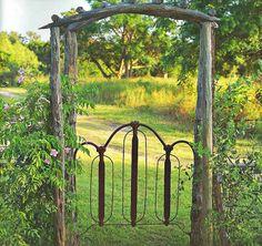 Country garden gate