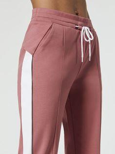 Lisbeth Sweatpants in Dusty Pink Combo Sport Fashion, Fashion Pants, Fashion Outfits, Womens Fashion, Sport Chic, Mode Hijab, Athletic Wear, Dusty Pink, Fashion Details