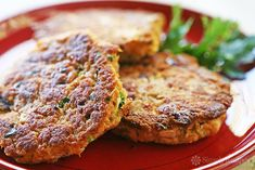 Salmon Patties! A quick and EASY, budget-friendly recipe using canned salmon, bread, green onion, dill, bell pepper, egg, lemon, and paprika. Perfect for a midweek meal! Kid-friendly too. On Simply Recipes.com