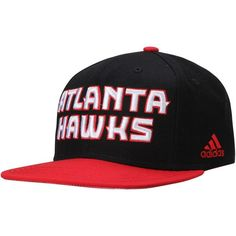 Atlanta Hawks adidas Youth On Court Snapback Adjustable Hat - Black/Red - $23.99