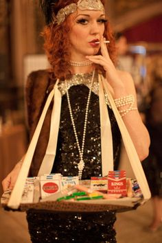 Ha, at this wedding they had a cigarette girl with candy cigarettes and cigars-adorable Style Me Pretty | Gallery | Picture | #647651