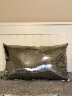 A personal favorite from my Etsy shop https://www.etsy.com/listing/555309166/silver-lumbar-pillow