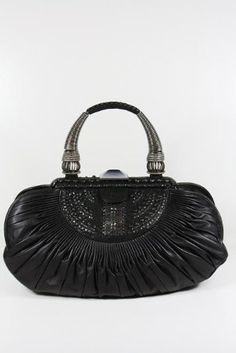 Christian Dior Large Black Bag - Overflowing with elegance & luxury. Go to your social event or gala and be a knockout!
