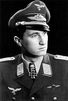 "Major Walter ""Nowi"" Nowotny (7 December 1920 – 8 November 1944) fighter ace with 258 aerial victories from 442 combat missions. Knights Cross of the Iron Cross (4 September 1942) as Leutnant and pilot in the 9./JG 54; 293rd OakLeaves (4 September 1943) as Oberleutnant and Staffelkapitän of the 1./JG 5; 37th Swords (22 September 1943) as Hauptmann and Gruppenkommandeur of the I./JG 54; 8th Diamonds (19 October 1943) as Hauptmann and Gruppenkommandeur of the I./JG 54"