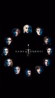 Game Of Thrones Faces #iPhoneWallpaper