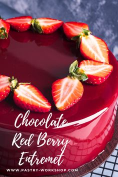 This chocolate red berry entremet is so shiny and elegant and yet so delicious with its intricate layering and delicate chocolate mousse! Fancy Desserts, Köstliche Desserts, Delicious Desserts, Dessert Recipes, Plated Desserts, Entremet Recipe, Cupcake Cakes, Cupcakes, Philadelphia Torte