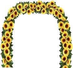 Sunflower Head, Sunflower Cakes, Cow Baby Showers, Sunflower Baby Showers, Baby Shower Decorations, Wedding Decorations, Wedding Ideas, Flower Garlands, Gold Confetti Balloons