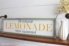 All Natural Lemonade Wood Sign