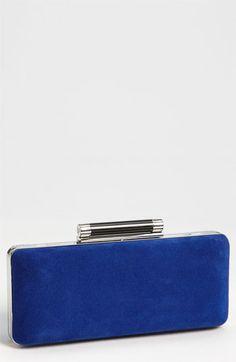 Diane von Furstenberg 'Tonda' Suede & Patent Leather Clutch available at #Nordstrom