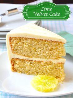 Lime Velvet Cake